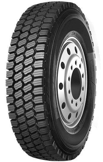 Truck snow tyres with deep tread depth