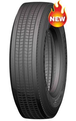 Special Four-rid tread groove design makes 295/75R22.5 tyre
