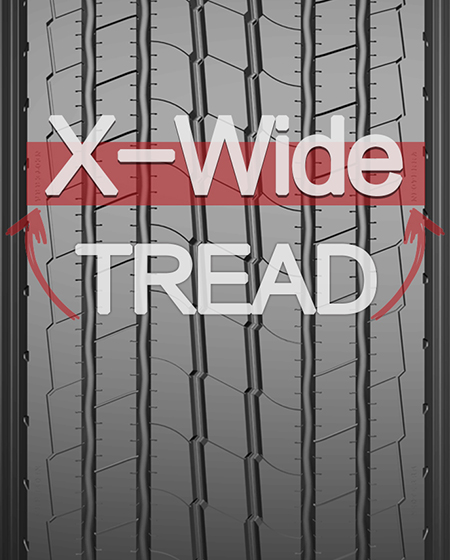 'X-Wide' Tread